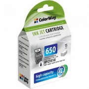 Картридж ColorWay HP №650 black (CZ101AE) ink level (CW-H650XLB-I)