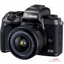 Цифровой фотоаппарат Canon EOS M5 + 15-45 IS STM Kit Black (1279C046)