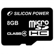 Карта памяти Silicon Power 8Gb microSDHC class 4 (SP008GBSTH004V10)