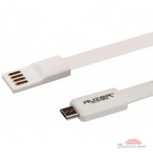 Дата кабель AUZER USB 2.0 – Micro USB 1.0м White (AC-M1WH)